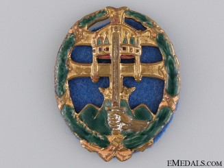 A Hungarian WWII Period Officers Combat Badge