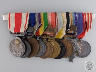 A Japanese Medal Bar of Ten Awards