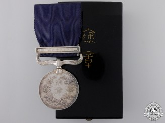 A Japanese Merit Medal (Konjuhosho); Named with Case