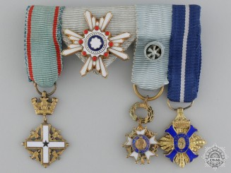 A Japanese Order of the Sacred Treasure Miniature Group