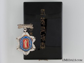 A Japanese Sericulture Association Merit Medal