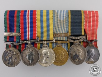 A Korean Service Miniature Canadian Medal Bar