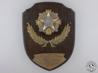 United States. A Korean Veterans Association Plaque to Brigadier General R. E. Peters