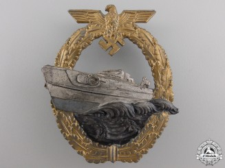 A Kriegsmarine 2nd Pattern E-Boat Badge by Schwerin