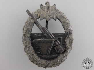 A Kriegsmarine Coastal Artillery War Badge by Schwerin