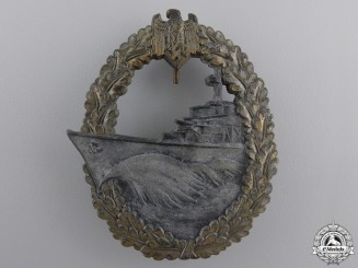 A Kriegsmarine Destroyer War Badge by Josef Feix & Sohn
