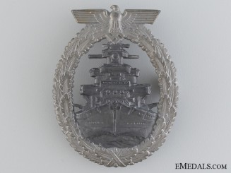 A Kriegsmarine High Seas Fleet Badge by F.O.