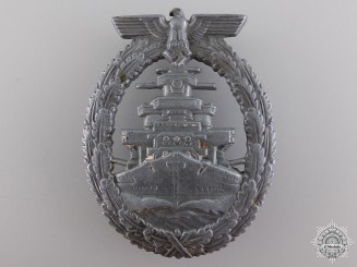 A Kriegsmarine High Seas Fleet Badge; French Made