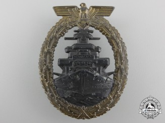 A Kriegsmarine High Seas Fleet Badge by Friedrich Orth, Wien