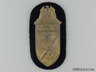 A Kriegsmarine Issue Narvik Shield