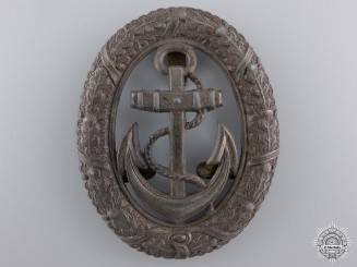 A Kriegsmarine Officer on Watch Badge