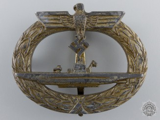 A Kriegsmarine Submarine War Badge; Unmarked