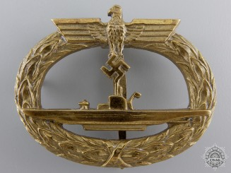 A Kriegsmarine Submarine War Badge by Schwerin