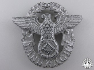 A Landwacht Police Cap Badge
