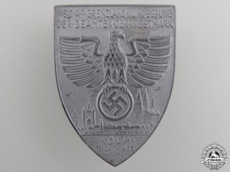 A Large 1933 Cologne NSDAP Day Badge