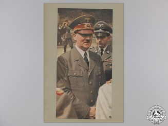 A Large & Autographed Colour Photograph of AH