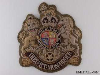 A Large British WWII Regimental Sergeant Major's Badge