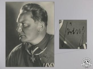 A Large Hermann Göring Autographed Studio Portrait