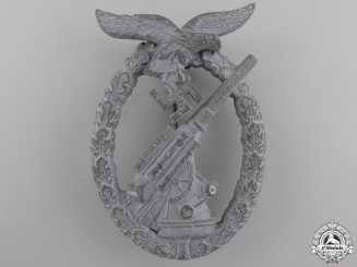 A Late War Luftwaffe Flak Badge by Walter Henlein