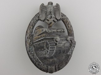 A Late War Tank Assault Badge; Bronze Grade