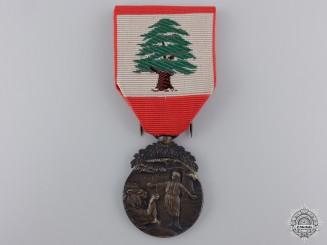 A Lebanese Merit Medal; First Class