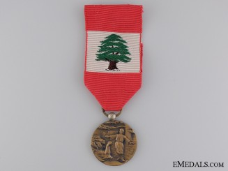 A Lebanonese Medal of Merit; 4th Class