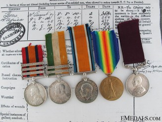 A South Africa & First War Long Service Group