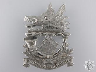 A Lorne Rifles (Scottish) Glengarry Badge