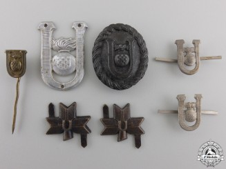 A Lot of Second War Croatian Ustasha Insignia