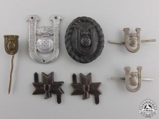 A Lot of Second War Croatian Ustasha Insignia