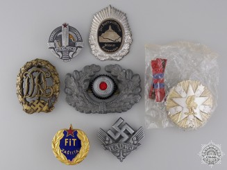 A Lot of Seven European Awards, Medals, and Insignia