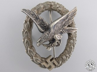A Luftwaffe Air Gunner's & Flight Engineers Badge by Juncker