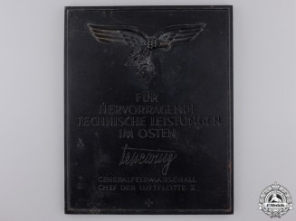 A Luftwaffe Award for Outstanding Technical Achievements in the East