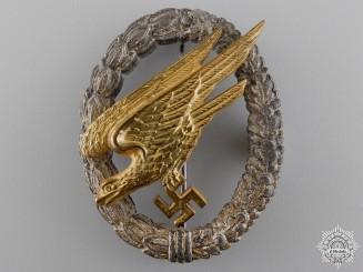 A Luftwaffe Fallschirmjäger Badge by Gebrder Wegerhof, Ldenscheid