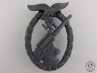 A Luftwaffe Flak Badge by Hermann Wernstein