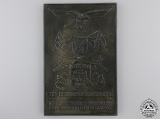 A Luftwaffe Honour Plaque for Proof of Merit in the XXX Field Air District