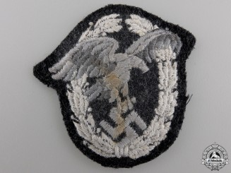 A Luftwaffe Observer's Badge; Padded Cloth Version