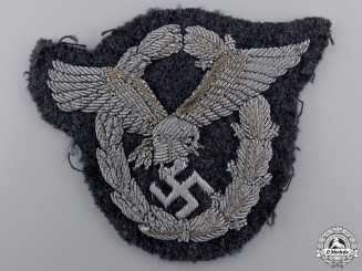 A Luftwaffe Officer's Pilot's Badge; Bullion Version