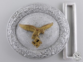 A Luftwaffe Officer's Belt Buckle; D.R.G.M.