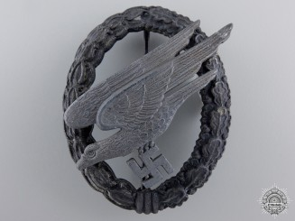 A Luftwaffe Paratrooper Badge by Assmann