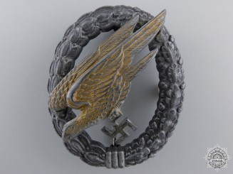 A Luftwaffe Paratrooper's Badge; Unmarked FLL