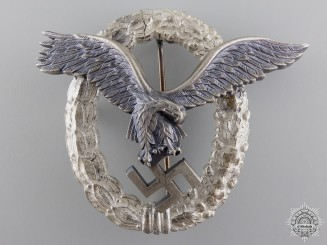 A Luftwaffe Pilot's Badge by G.H. Osang, Dresden