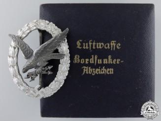 A Luftwaffe Radio Operator & Air Gunner Badge by Juncker