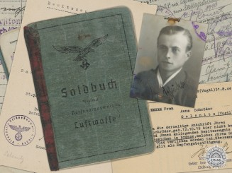 A Luftwaffe Soldbuch & Anti-Partisan Document to Fallschirmjäger