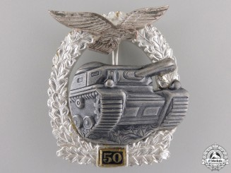 A Luftwaffe Tank Assault Badge 50; 1957 Version