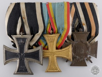 A Mecklenburg-Schwerin First War Medal Bar