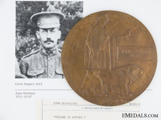 A Memorial Plaque to J.S.More; KIA West of Tilloy 1918