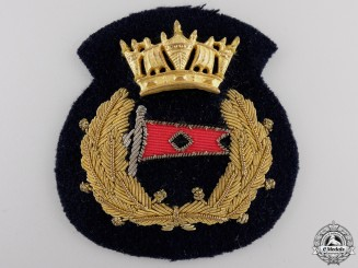 A Merchant Marine Officer's Cap Badge