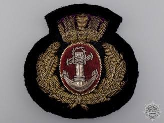 A Merchant Navy Officer's Cap Badge