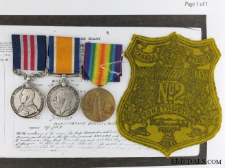 A Military Medal to the 87th Quebec Regiment for Action at Neuvilie